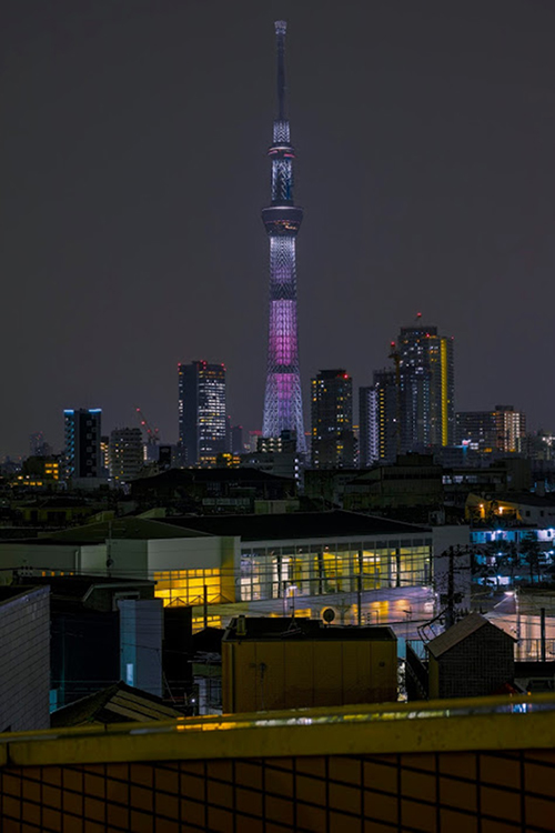 Tokyo skytree view from my office 2015 4 6