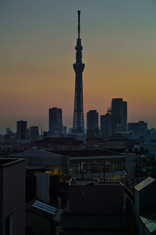 Tokyo skytree view from my office 2015 2 12