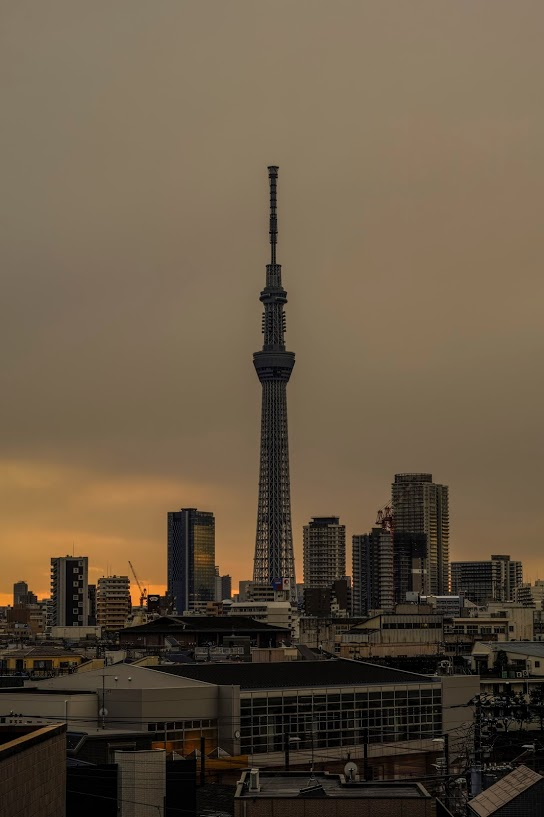Tokyo skytree view from my office 2015 2 13