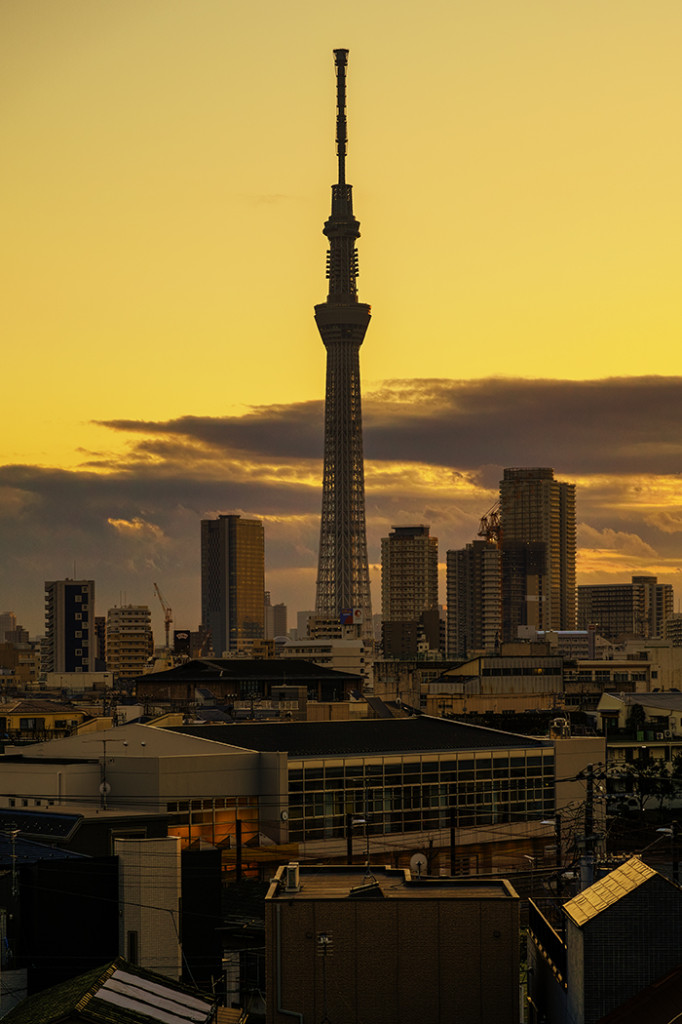 Tokyo skytree view from my office 2015 2 20nobiann