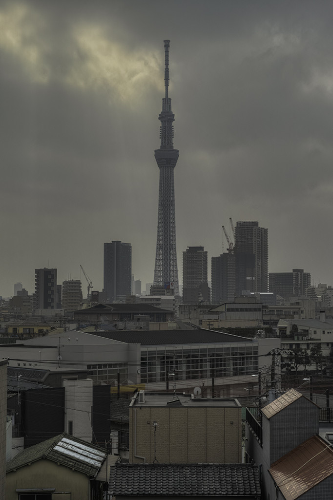 Tokyo skytree view from my office 2015 2 24nobiann