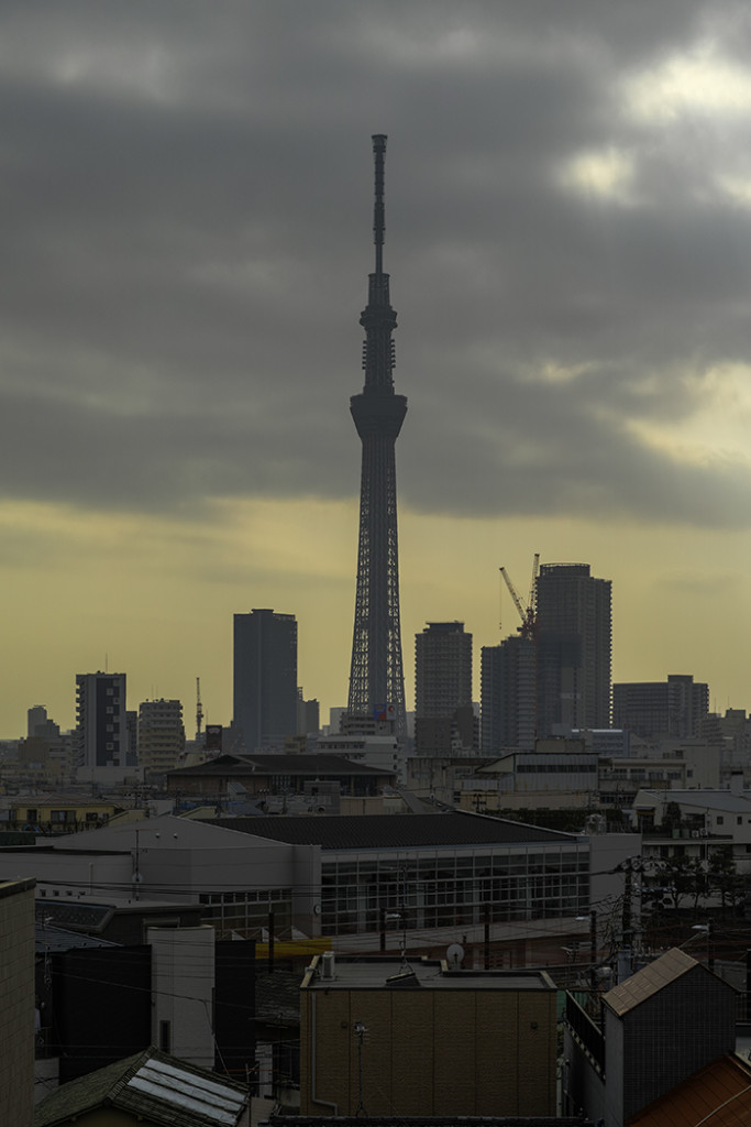 Tokyo skytree view from my office 2015 2 25nobiann