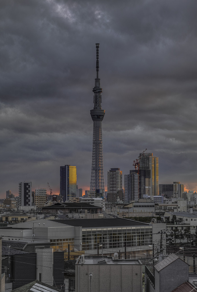 Tokyo skytree view from my office 2015 3 10nobiann