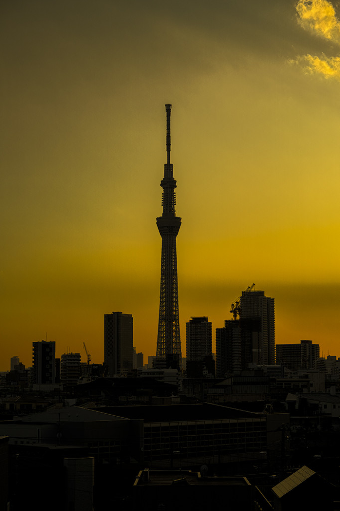 Tokyo skytree view from my office 2015 3 12nobiann